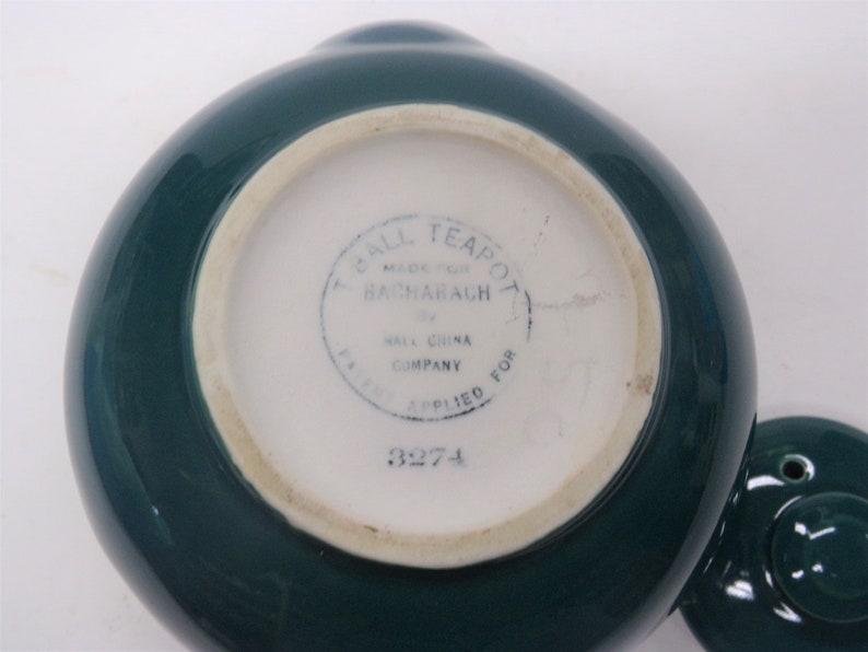 Side Tea Bag Holders Hall Round T-Ball Teapot Emerald Green