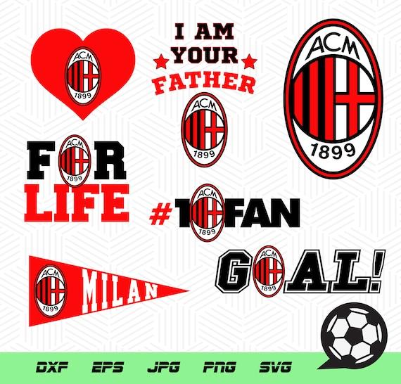 buy popular a2f94 b7f74 Associazione Calcio Milan soccer, team soccer, vector files, logos soccer
