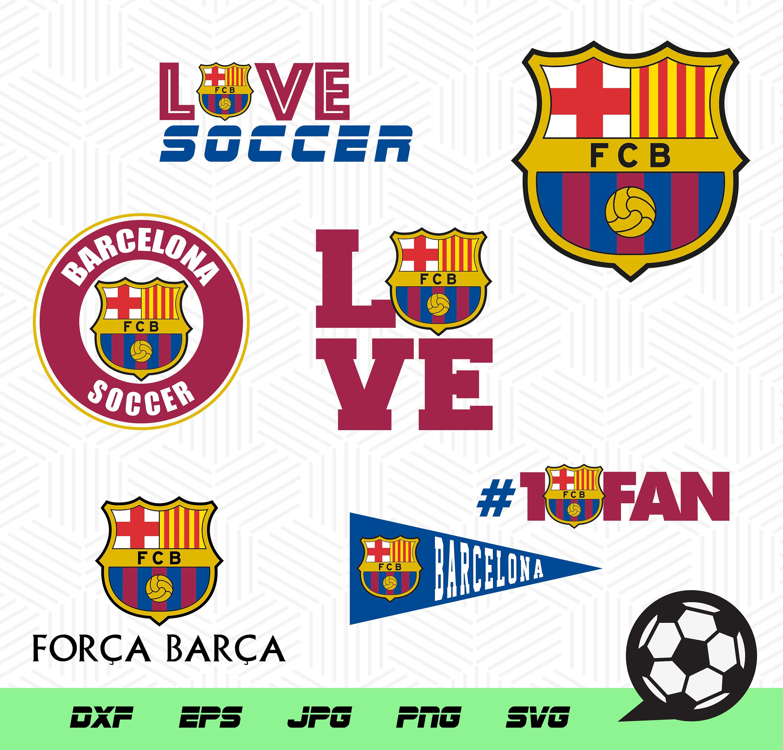 Barcelona soccer team soccer vector files logos soccer | Etsy