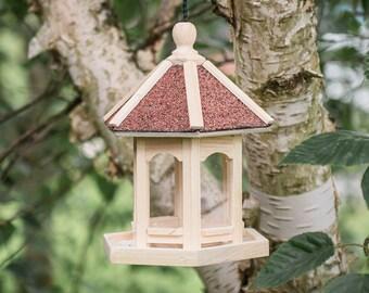 Cute Garden Decorations garden mile/® Novelty Hanging Wild Bird Feeders for the Garden Blue Police Public Call Box Bird Feeding Station for Bird Seed and Peanuts