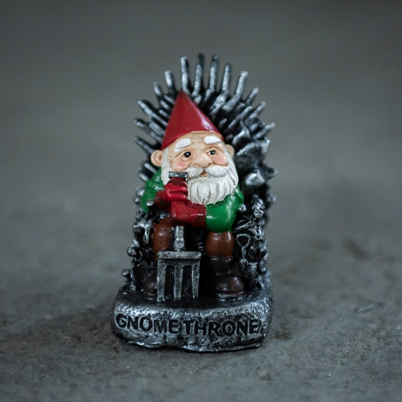 Game of Gnomes Miniature Garden Gnome Figurine for the Home or Garden