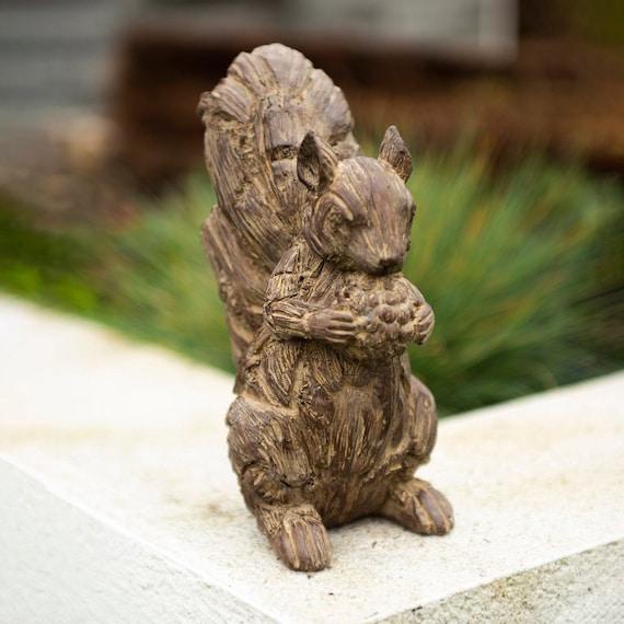 10/'/' Squirrel Figurine Sculpture Home Garden Ornament for DIY Accessories