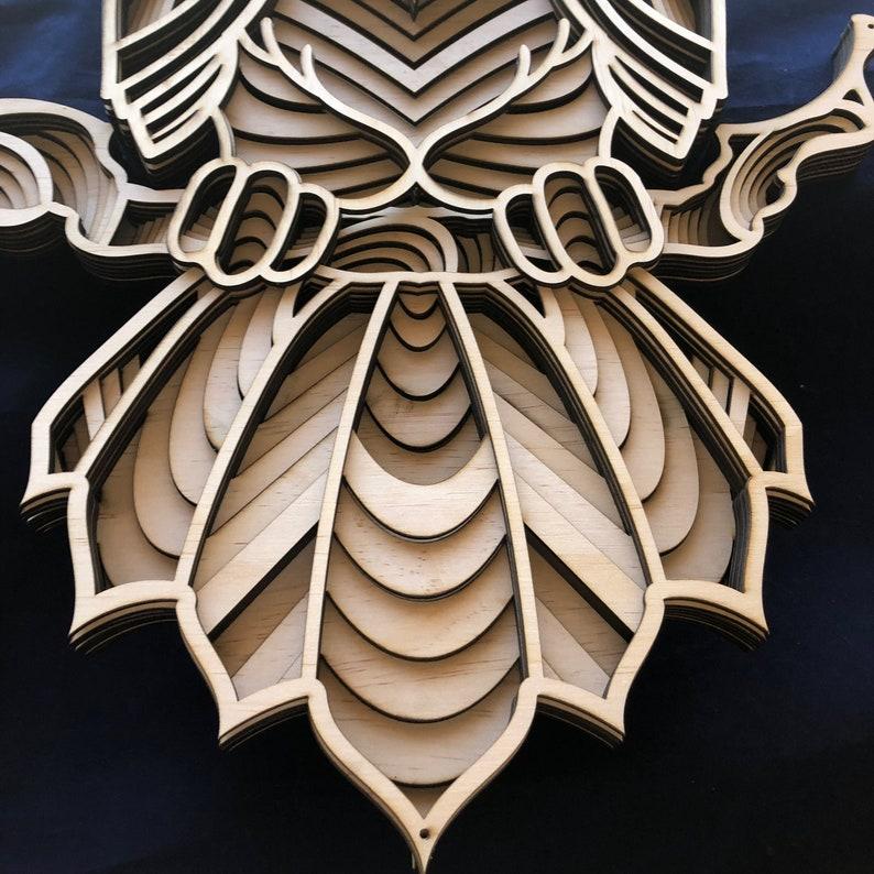 Download Laser cut Files 3d mandala svg Multilayer Mandala Owl ...