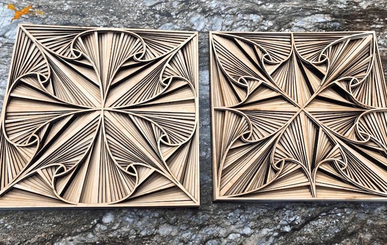 Template Files for Laser Cutting Multilayer Geometry Mandala digital CNC Pattern Vector plans blueprint model 3d volumetric drawings Decor