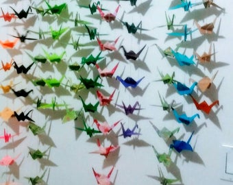 Individual Origami Cranes For Sale in Small, Medium, Large and Extra Large