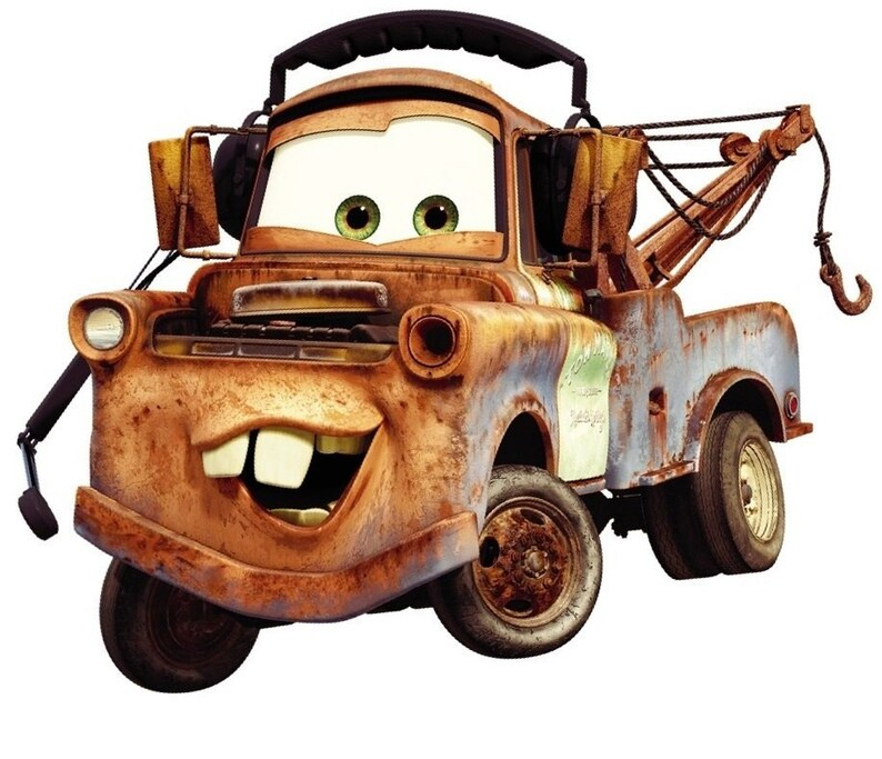 54a7faf158 9 Inch Tow Mater Decal Disney Cars Movie Truck Removable Peel