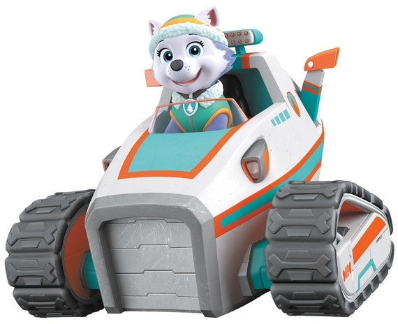Uk Stock Paw Patrol Everest And Snowmobile Rescue Vehicle Brand New Free Postage