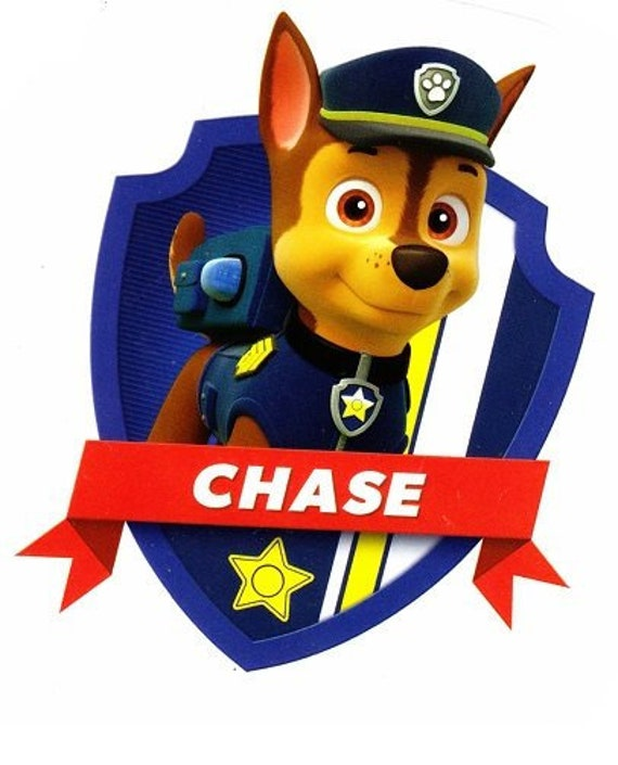 4 Inch Chase Badge Paw Patrol Pup Wall Decal Sticker Pups Puppy Puppies Dog Dogs Removable Peel Self Stick Vinyl Art Home Decor 3x4 Inch