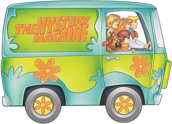 "Scooby-Doo Gang in Mystery Van bumper sticker wall decor vinyl decal 5/""x 5/"""