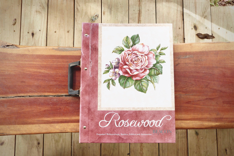 Floral Wallpaper Sample Book Rosewood Etsy