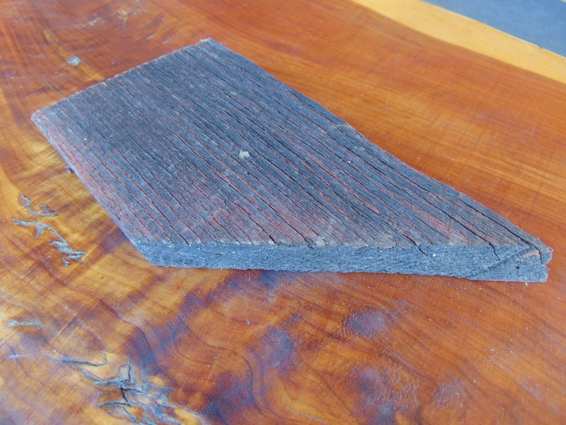 1x6x9 Vintage Faded Red Oak Barn Board Rustic Weathered Wood Hardwood Slab Plank Reclaimed Paint Rough Edge DIY Arts Crafts Project Decor