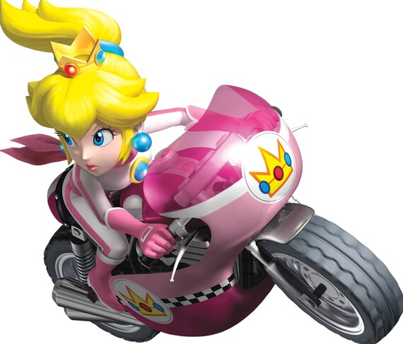 7 Inch Princess Peach Decal Super Mario Kart Wii Bros Brothers Removable Wall Sticker Art Nintendo 64 Snes Home Kids Decor 7 By 6 Inches