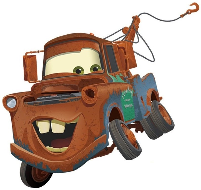 176815a212 8 Inch Tow Mater Decal Disney Cars Movie Truck Removable Peel
