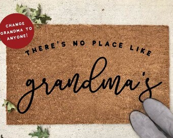 personalized grandparent gifts theres no place like grandmas personalized christmas doormat nana doormat gifts for nana abuela doormat