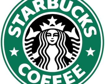 Starbucks Coffee Custom Button, Pin Badge, Pin Back Button, coffee lover
