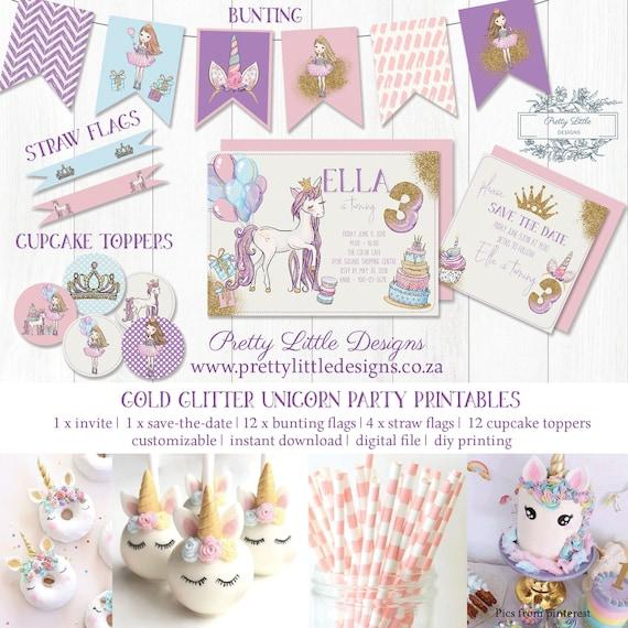 Unicorn Birthday Invitation Printables Girl Birthday