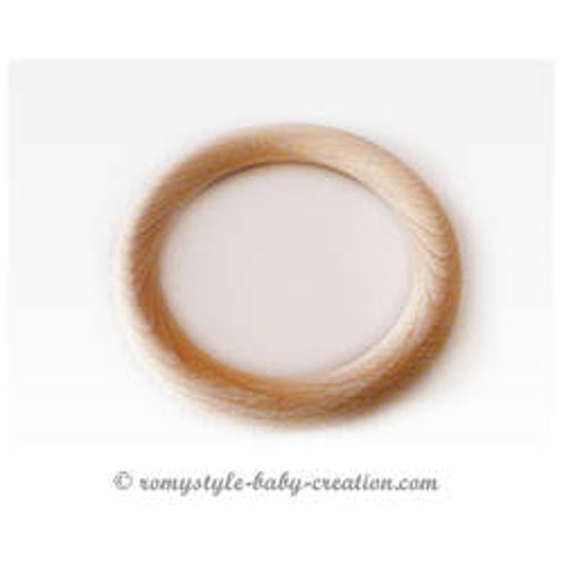 ring 100 mm raw natural beech wood