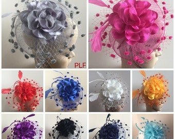Elegant Headband Fascinator Hat Alice band Wedding 5d125ef92b6