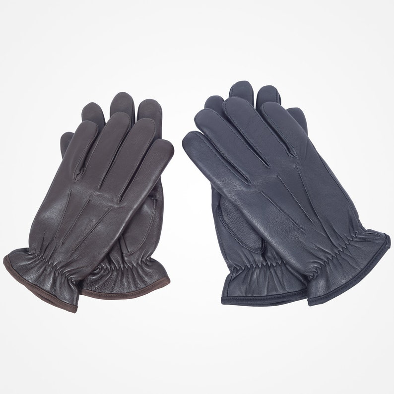REAL SHEEP NAPPA LEATHER PADDED PALM DRIVING GLOVES MEN DRESS CHAUFFEUR CLASSIC