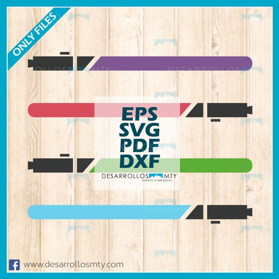 Funny Lightsaber In 4 Differents Colors Svg Eps Pdf Png Etsy
