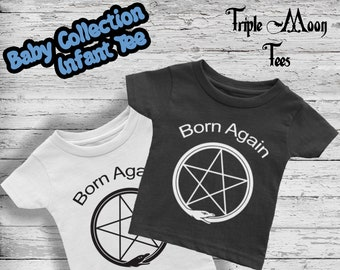 a24bca08e Baby Shirt Pentagram Pagan Clothing Baby Clothes Infant Mom Gift Ouroboros  Unisex t shirt tee Wicca Witch Witchcraft Supply Occult Gift