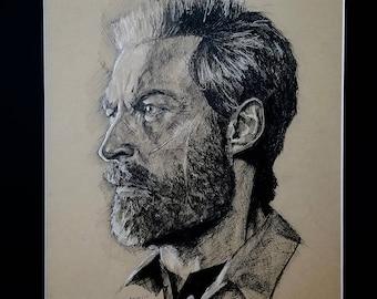 Logan (film) Pen & Ink Portrait