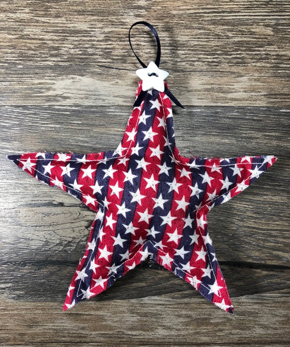 American Star Wall Decor Americana Fabric Hanging 4th of July | Etsy
