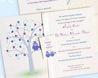 Owl invitations, owls invitation, owl wedding, wedding owls, autumn wedding, cute owls, rsvp wedding, wedding details, wedding suite