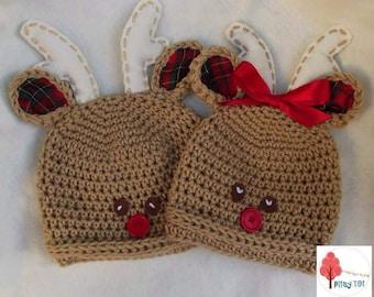 7b75a1bb69ff4 Crochet reindeer hat