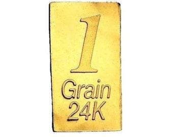 Gold Gram Coin Etsy