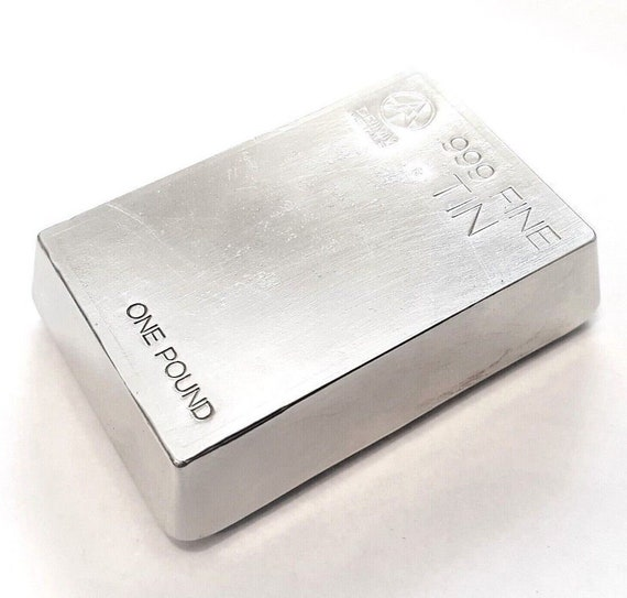 HAND POURED-UNIQUE regular INGOT 1 POUND ZINC  BAR 99.9/% PURE