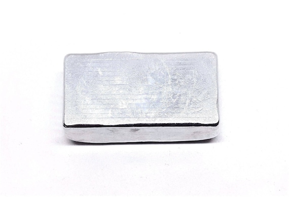 regular 99.9/% PURE HAND POURED-UNIQUE INGOT 10 troy ounces ZINC  BAR