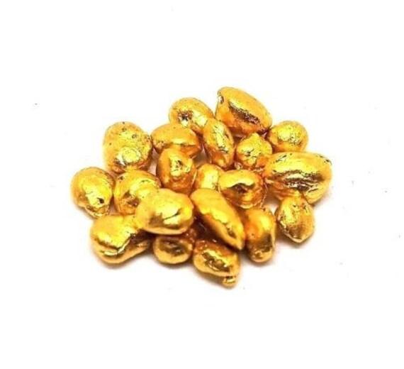 Grimm Metals 10 Grams .999 Fine 24k Gold Shot - 1 Gram Bags 10