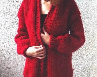 Knitting wool cardigan