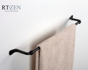 Iron Hand Towel Rack Decorative Bathroom Towel Bar