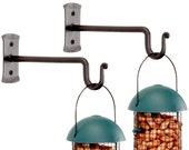 Set of 2 Iron Bird Feeder Hook, Plant Hanger, Lantern Hook by RTZEN-Décor