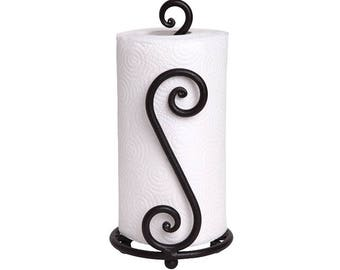 Iron Forged Standing Paper Towel Holder