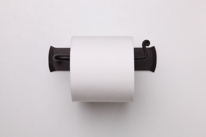 Rustic Tissue Holder Forged Iron Toilet Paper Holder