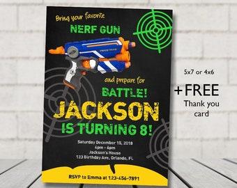 Nerf Invite Etsy