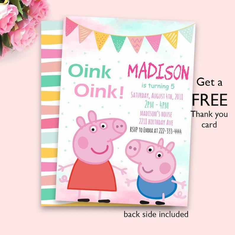 Peppa Pig Birthday Invitation Peppa Pig Invitation Peppa Pig Party Invitation Digital File Peppa Pig Invite