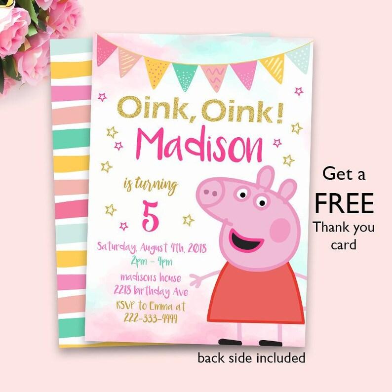 Peppa Pig Invitation Peppa Pig Peppa Pig Party Invitation Digital File Printable File Peppa Pig Invite Peppa Pig Birthday Invitation