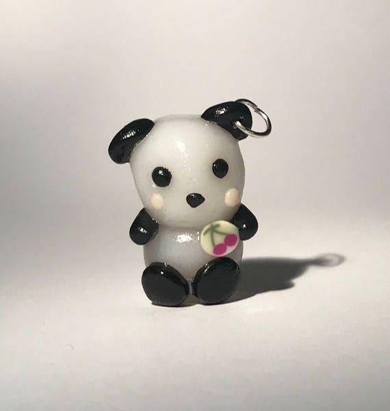 Panda ours charme / / animal porte-clé / / noir et blanc
