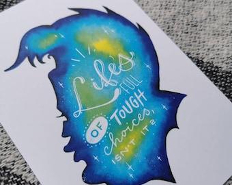 """Postcard Silhouette Galaxy """"Tough choices"""""""
