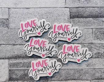 "Sticker ""Love yourself"" set of 5"