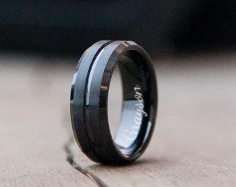 rings for men black