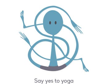 Say Yes to Yoga - Illustrated Greetings Card