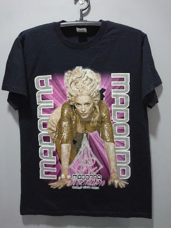 Vintage 2004 Rare Madonna World Tour T-Shirt/Queen
