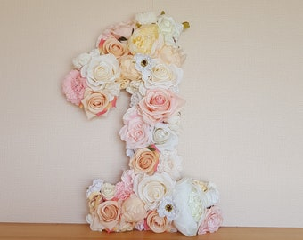 Birthday Number Decor First Party Flower 1 Floral Letter