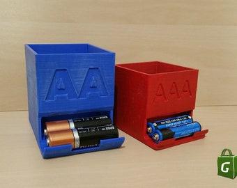 AA/AAA Battery Dispenser Holder