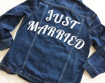 Bride Denim Jacket/Wifey Denim Jacket/Customised Denim Jacket/Bride Gift/Bride Jacket/Just Married/Just Married Jacket